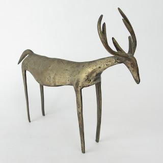 Brass Deer Sculpture