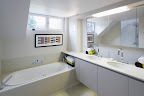 Polished Divinty White Bath surround & double vanity top