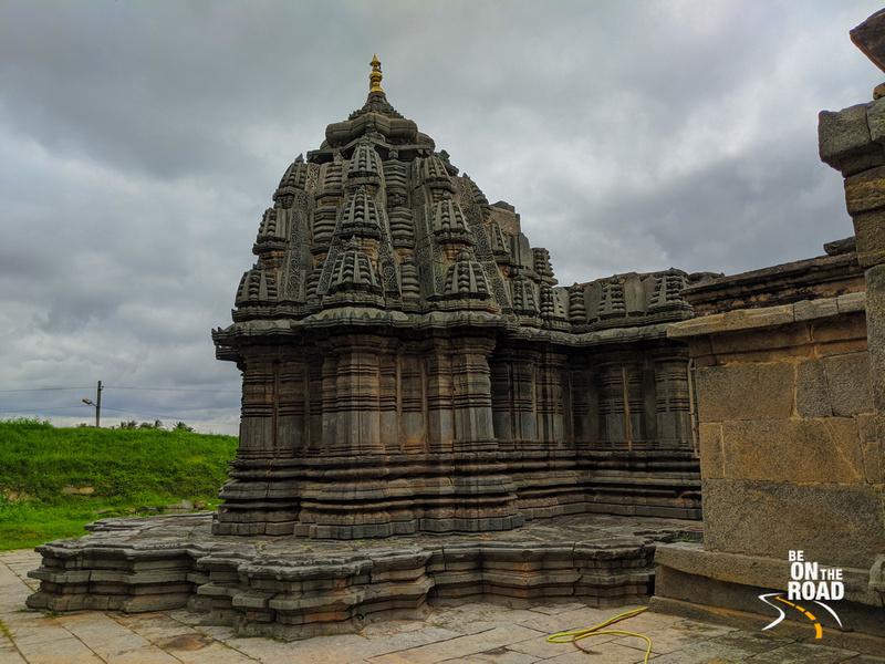 The beautifully carved Shikhara of Sadashiva temple, Nuggehalli