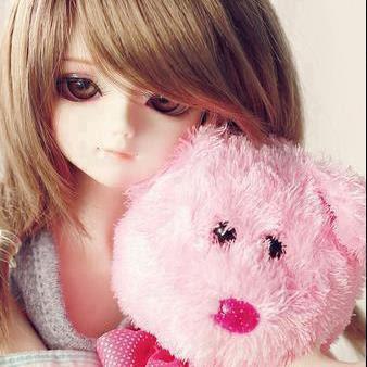 Imagen fondo muñeca osito rosa mujer chicas