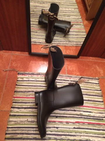 diy botas de hipica de decathon,wellies,resultado final