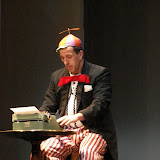 """Tim Orcutt in """"Words, Words, Words"""" as part of THE IVES HAVE IT - January/February 2012.  Property of The Schenectady Civic Players Theater Archive."""