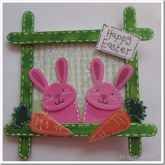 Popstickle Stick Easter Bunny Picture Frame