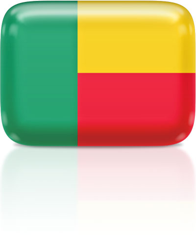 Beninese flag clipart rectangular