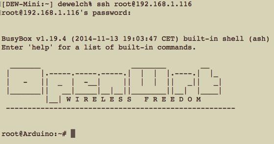 Arduino ssh 1