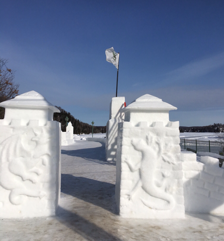 Ice sculptures at Sainte-Marguerite-du-Lac-Masson