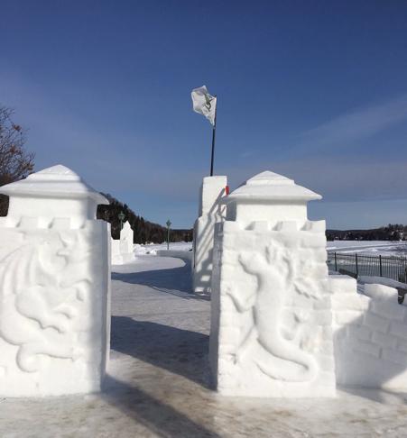 Ice sculptures at Sainte-Marguerite-du-Lac-Masson