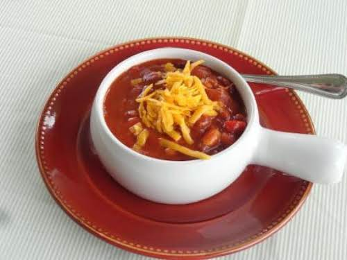 """Three Amigos Chili"" ""It's unique in the fact that it had 3 meats,..."
