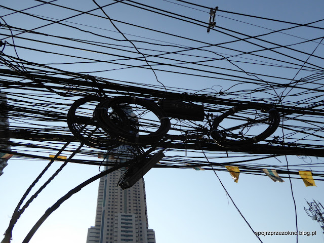 Plątanina kabli w Bangkoku
