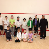 Beginner junior squash players make progress at Kidsquash.