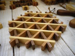ワッフルナベシキ waffle kumiko hot pot stand