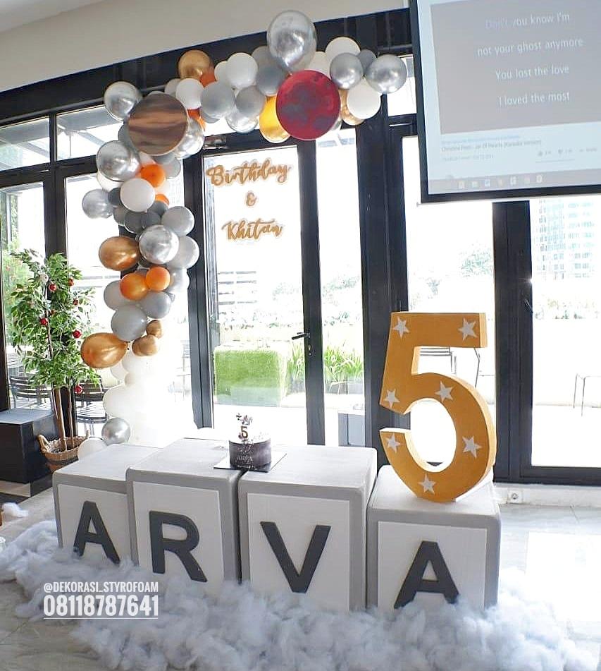 melayani dekorasi balon dan Styrofoam untuk kebutuhan ulang tahun dan khitanan