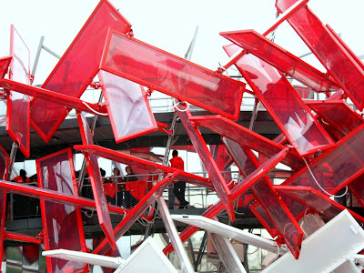 Structure at the London Olympic Park