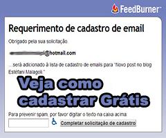 Aprenda cadastrar seu e-mail para receber nossas postagens