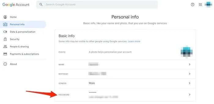نصائح أمان حساب Gmail كلمة المرور