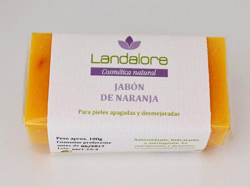 Jabón Natural de Naranja Landalore