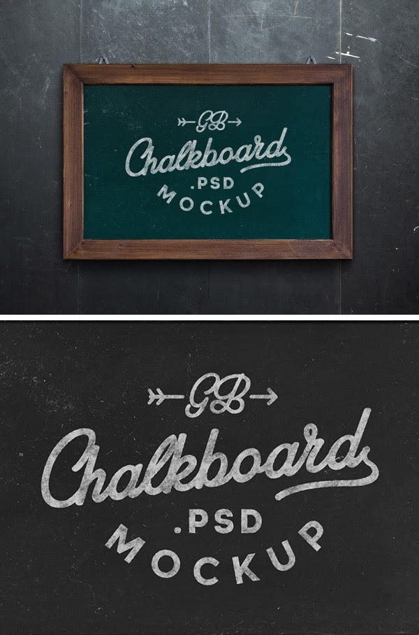 Chalkboard MockUp PSD Freebie