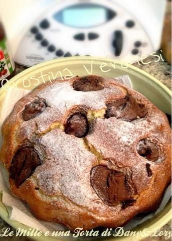 torta alla banana, con ricotta e nutella