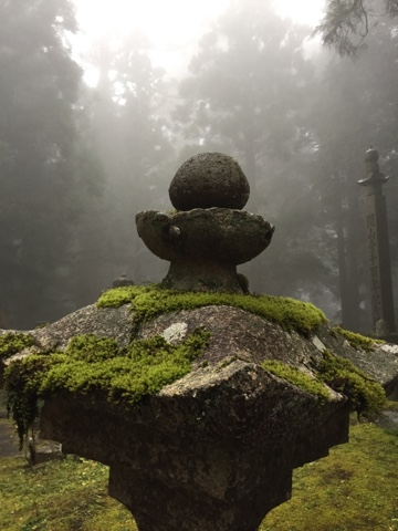 Morning fog in Okunoin Cemetary, Koyasan