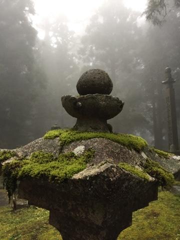 Morning fog in Okunoin Cemetary, Koyasan
