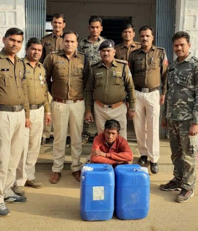 बैराड़ पुलिस ने दो स्थानों से पकड़ी हाथभट्टी की कच्ची शराब | Bairad News