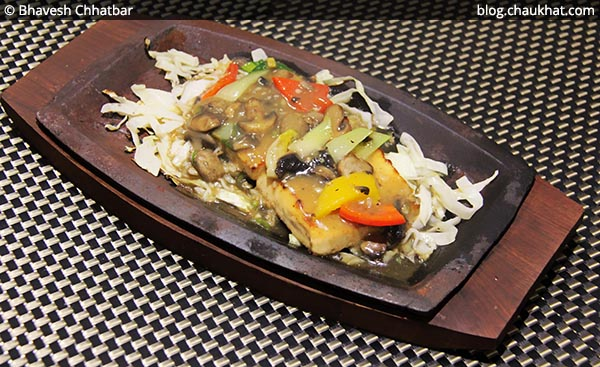 Tofu Steak at SocialClinic Restobar in Koregaon Park area of Pune