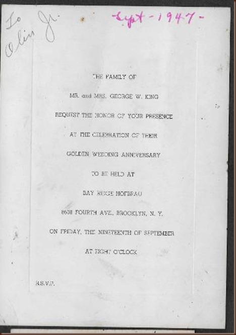 King george sarah 50th anniversary invitation