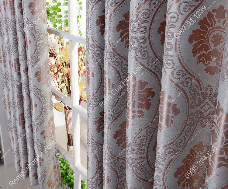 Rèm cửa sổ đẹp hà nội họa tiết phương đông 10
