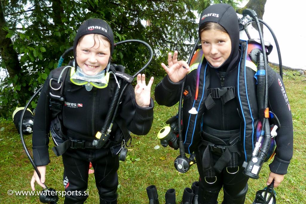 prva podvodna izkusnja za otroke