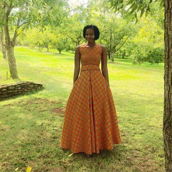 AFRICAN BRIDESMAID WOMAN DRESSES PATTERNS 1