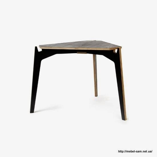 Трехногий фанерный стол для кафе и баров