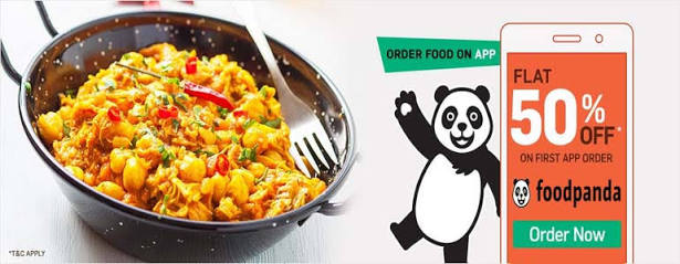 FoodPanda PhonePe Offer - Get 50% Cashback Upto Rs.100 by Paying via PhonePe Wallet