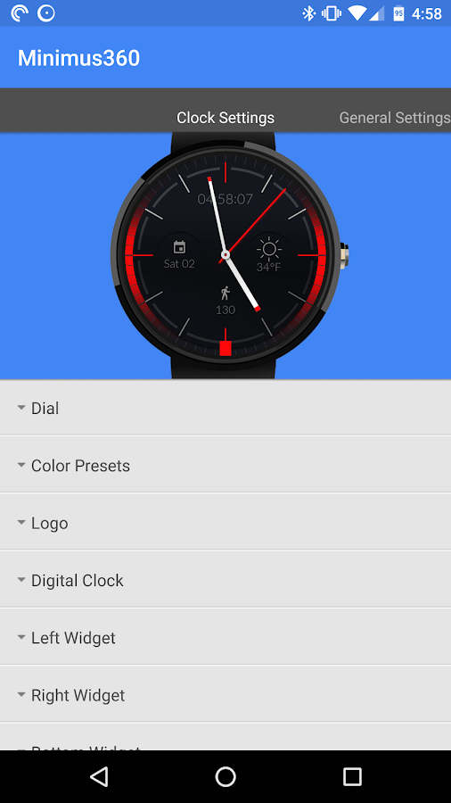 Minimus360 Watch Face- screenshot