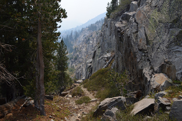 trail below a short cliff