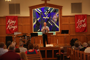 Dr. David Rawls provides special music for the Anniversary Program
