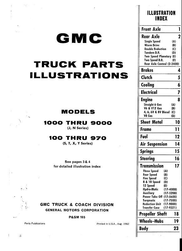 1960-66 gmc illustrations book pickup box