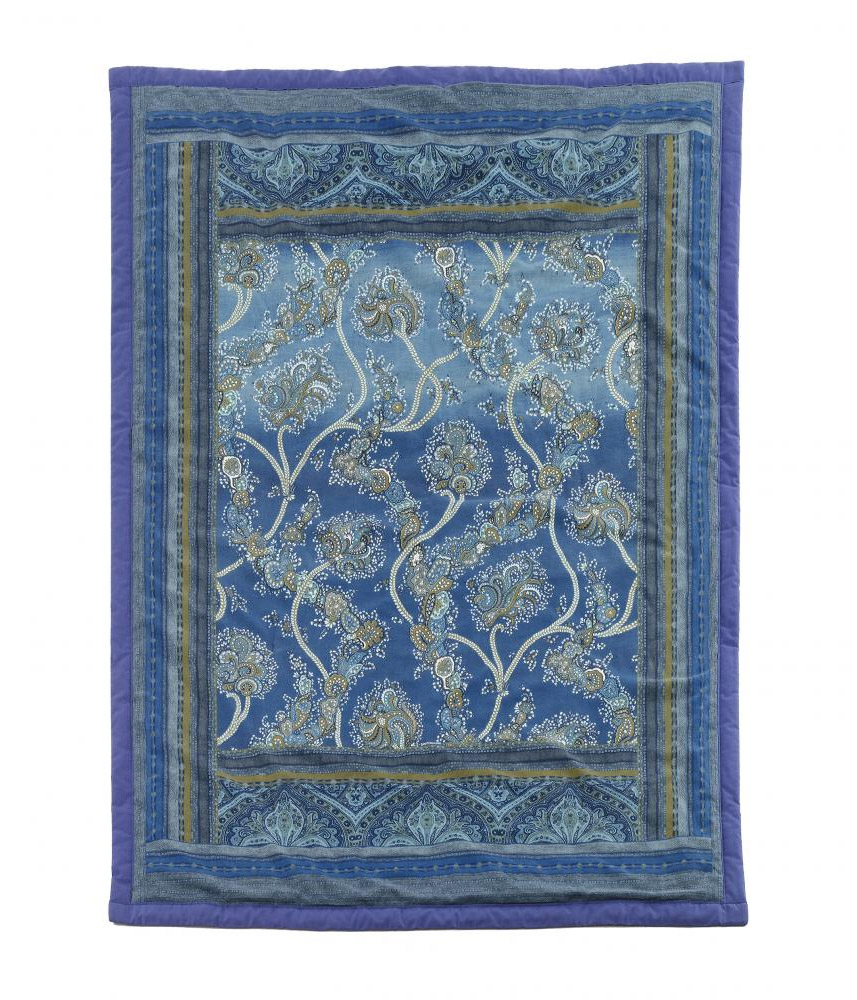 Granfoulard bassetti bramante blu calda coperta divano - Granfoulard per divano ...