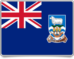 Falkland Island  framed flag icons with box shadow