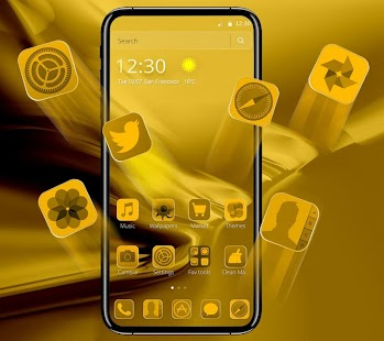 Golden Theme for Phone 8 - náhled
