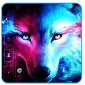 Ice Wolf Howl Feral 3D Theme icon