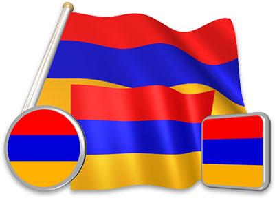 Armenian flag animated gif collection