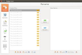 Renombrar series automáticamente con FileBot en Ubuntu - aplicación