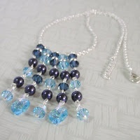 Crystals Necklace by MagsBeadsCreation