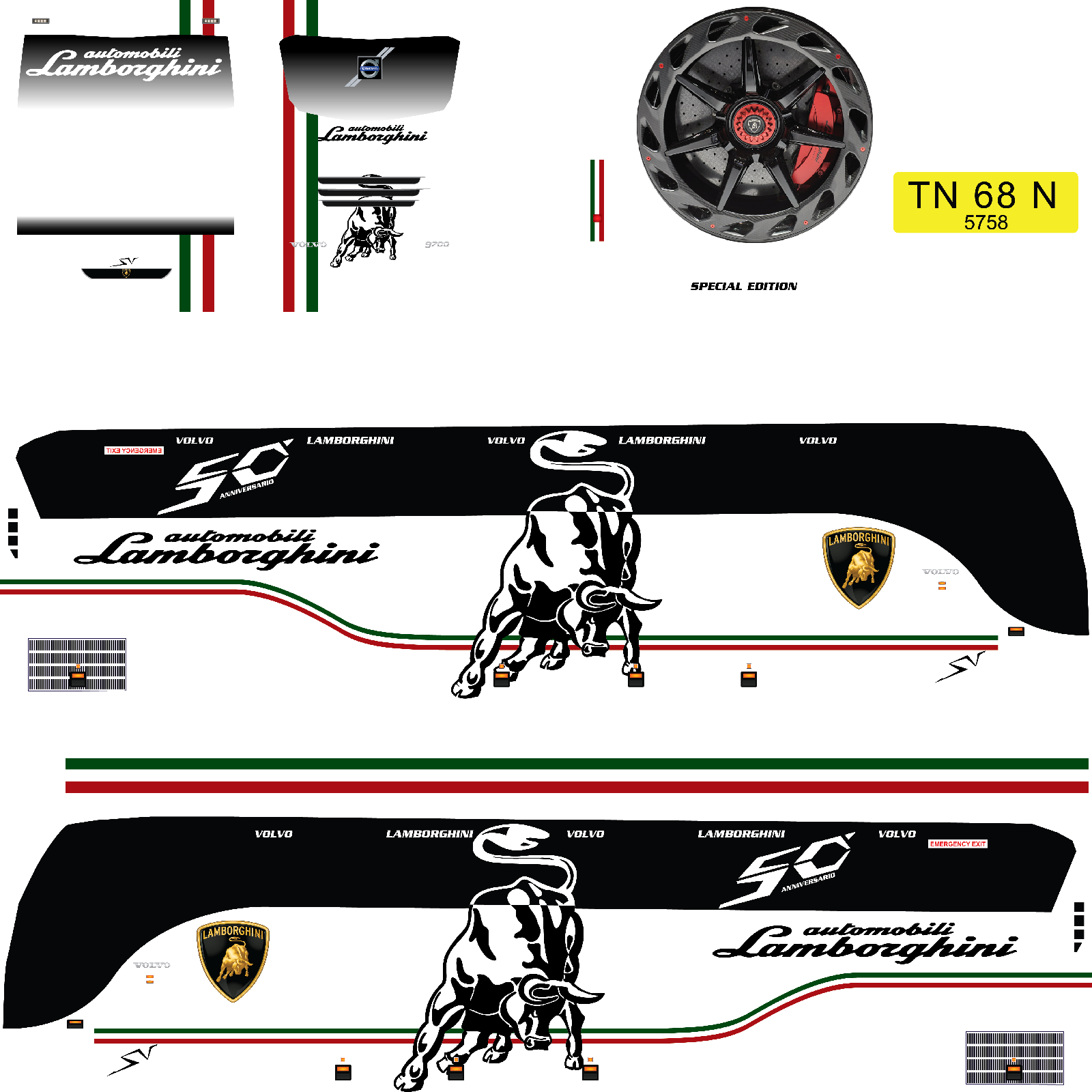 BUSSID : Lamborghini Bus livery download | bus simulator indonesia livery