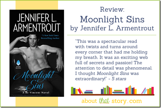 ​ Review: Moonlight Sins (de Vincent #1) by Jennifer L. Armentrout | About That Story