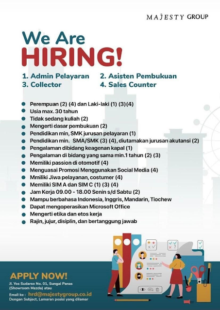 Lowongan Kerja Majesty Group-Admin -Collector -Asisten -Sales