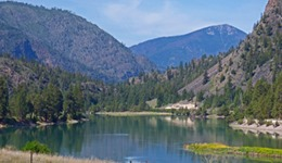 Clark Fork or Flathead River along Montana Highway 200