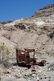 An old Ford shell rust away back to nature. This is likely the donor of the engine at the mine.