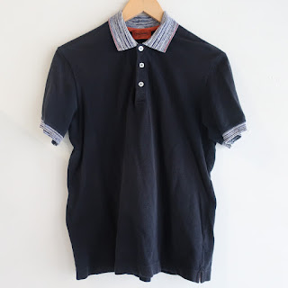 Missoni Navy Blue Polo