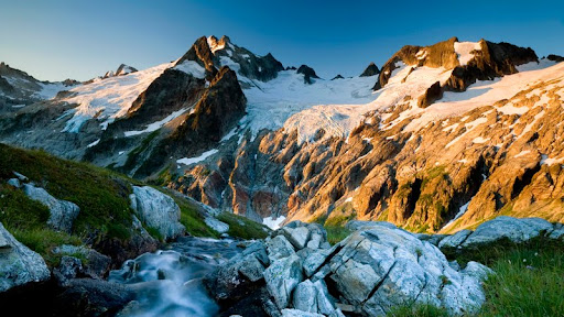 Dome Peak and the Dana Glacier at Sunrise, Glacier Peak Wilderness, Washington.jpg